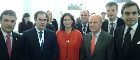Albaladejo, junto a otras autoridades en la inauguración de la Feria de Turismo de Berlín, ayer miércoles
