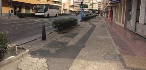 Aspecto de uno de los viales de la avenida  (Foto: Los verdes)