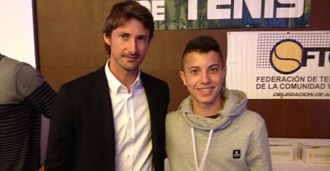 David Caprotta con Ferrero