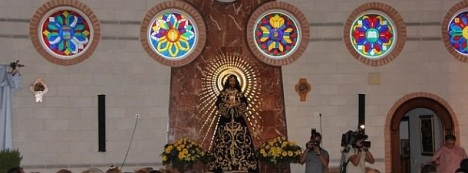 La imagen de Jesús de Medinaceli, se venera en la Parroquia de San Roque y Santa Ana