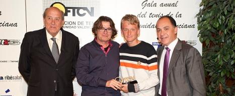 Nicola Kuhn y Antonio Tafalla en la Gala del Tenis Valenciano