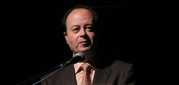Francisco Reyes Prieto, durante una de las múltiples presentaciones que realiza