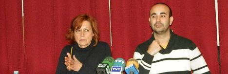 Carlos Sánchez (JJ.SS. junto a Dora Fernández (PSOE)