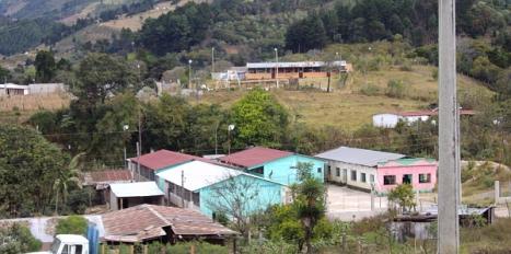 Vista de la aldea donde se situará el centro médico
