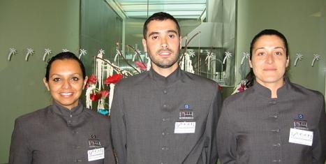 Andrea M. Pérez, Francisco Rodríguez y Diana López, estan preparados para asumir mañana el reto