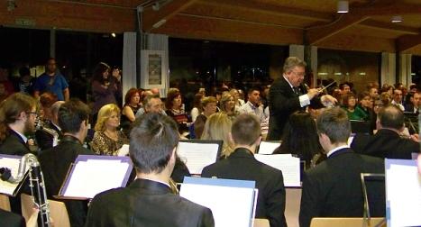 La Unión Musical Torrevejense, durante el estreno de la Obra