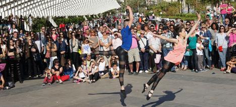 Maratón de baile en la calle el año pasado