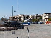 Tuberías de Agamed, apiladas en un espacio municipal (Foto Apetce)