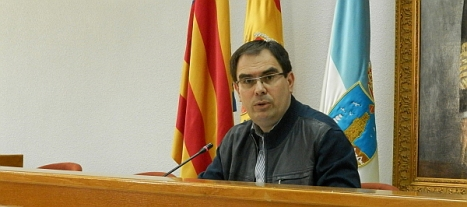 Joaquín Albaladejo, ayer en rueda de prensa