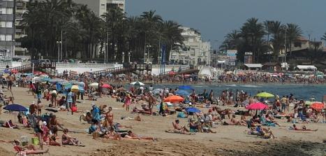 Playa de Los Locos el pasado domingo día 20 de abril
