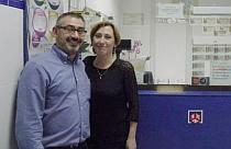 """Inma y Domingo Paredes Coral, gestores de la Adm. de Loterías """"La Bella Lola"""""""