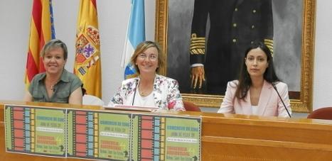 Caridad Salmerón, Agustina Esteve y Lidiana Rodríguez