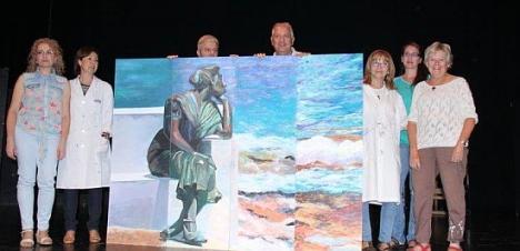 Cuadro realizado en la Gala de la Cultura 2014