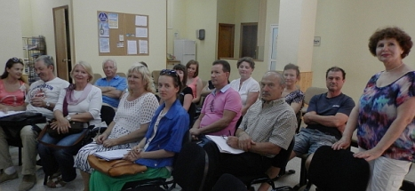 Algunos de los usuarios de la Asociación en clases de español para rusos