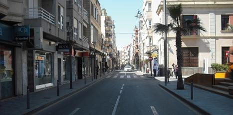 Tramo de la calle Ramón Gallud afectado por el apagón de ayer