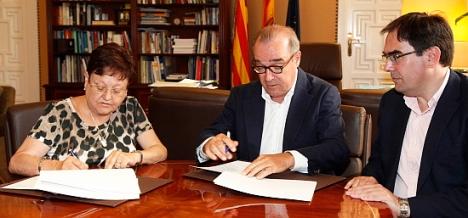 Acto de la firma del convenio