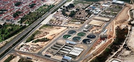 Vista aérea de la EDAR - Torrevieja