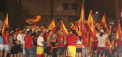 """Torrevieja """"enloqueció"""" el 11 de julio de 2010 con la conquista de la Copa del Mundo por España"""
