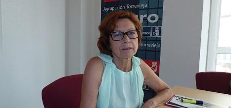 Dora Fernández, ayer en su rueda de prensa