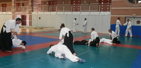 Miembros del Club, en una sesión de entrenamiento en el Palacio de los Deportes