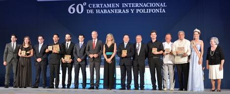 Los premiados en el 60 Certamen Internacional de Habaneras y Polifonía