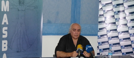 Santiago Samper, ayer en rueda de prensa