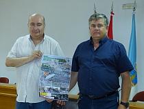 Eduardo Gil y Antonio, presentaron ayer los actos