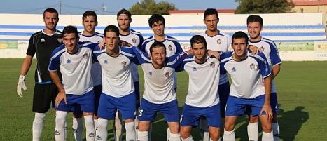 Alineación inicial último partido amistoso contra La Hoya de Lorca