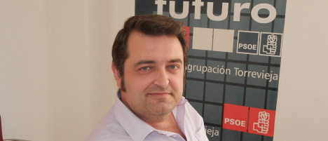 Javier Manzares, concejal socialista del PSOE en Torrevieja
