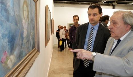 Luis Cajal, en una foto retrospectiva junto al alcalde, Eduardo Dolón