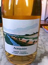 """Detalle de la botella del vino """"Acequión"""""""