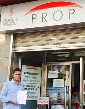 El representante de los comercios de Maria Parodia a las puertas del PROP