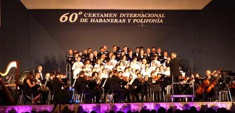Actuación del Orfeón Donostiarra el pasado día 19 de Julio en la Gala de Apertura del 60 Certamen Internacional de Habaneras y Polifonía de Torrevieja