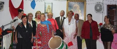 Algunos de los miembros de la Ascociación andaluza, durante una de sus múltiples celebraciones