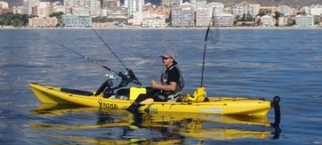 Pesca con kayak