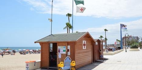 Uno de los puestos de socorrismo situados en las playas de Torrevieja (Los Naúfragos)