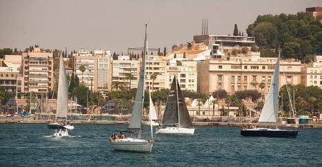 Momento e la salida de la Regata desde Cartagena (Foto: Ayuntamiento de Cartagena)