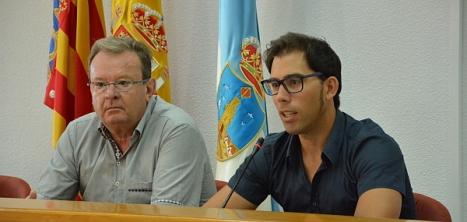 Luis María Pizana y Germán Soler, durante la rueda de prensa ofrecida ayer