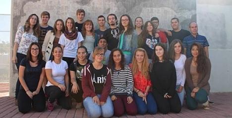 Grupo de alumnos durante una de las Rutas