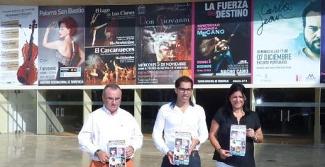 El ocnejal Luis maría Pizana, el coordinador de cultural Manuel Esteban Moreno y la Gerente del I.M.C. Joaquín Chapaprieta, Juncal Belmar