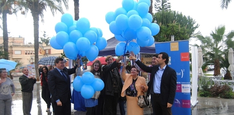 Suelta de globos azules en el Día de la Diabetes (Año 2013)