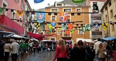 Aspecto de las calles de Concentaina durante la Feria