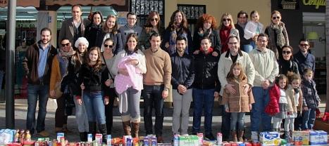 Foto de familia de la Linea Solidaria Año pasado