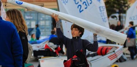 Preparando la regata