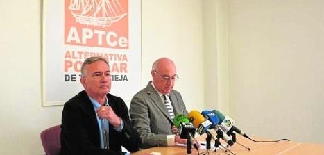 Soler y Andreu en rueda de prensa (F. Reyes)