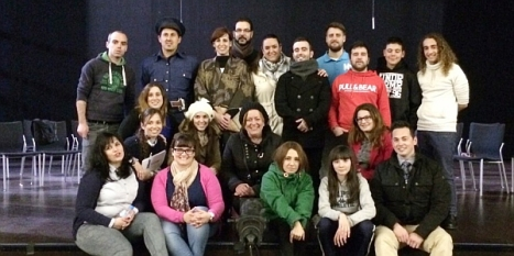 """Elenco del """"Teatrico"""" anoche tras el último ensayo"""