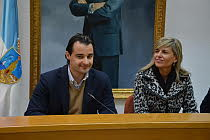 Dolón y la Consellera, durante la rueda de prensa