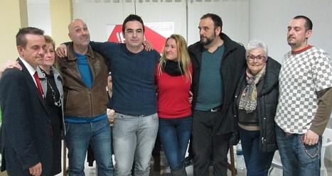 Víctor Ferrández y sus candidatos electos
