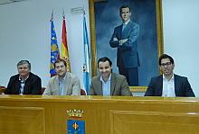 De Izda. a Dcha. Eduardo Gil, David Fernández, Eduardo Dolón y Luis Marái Pizana