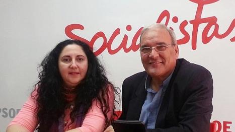 Iborra juntoa Ángel Sáez